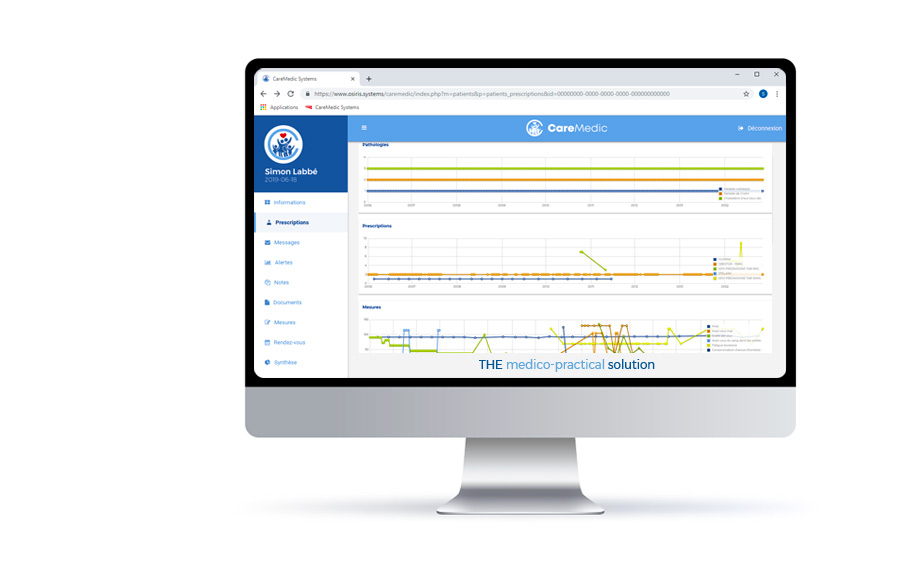 caremedic solution dashboard sample health professionals platform